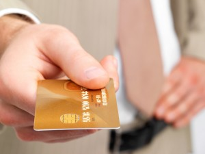 Credit card, money, bank business and hand