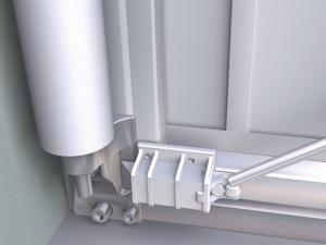 Die Zweipunktverriegelung gewährleistet Sicherheit vor dem Öffnen des Tores durch unbefugte Personen.
