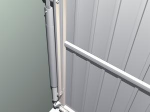 Die speziell ausgewählten Zugfedern gleichen das Gewicht des Tores aus und sind von sicheren Hülsen umgeben, die vor einem Einklemmen der Finger schützen.