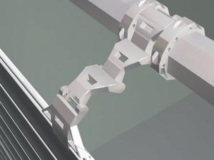 Im Tor BR-77 s sorgt diese Sperre dafür, dass das Torblatt nicht von außen angehoben werden kann.